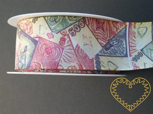 Stuha pro milovníky peněz, š=4 cm