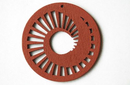 dřevěné kolečko 60 mm- sv.hnědé