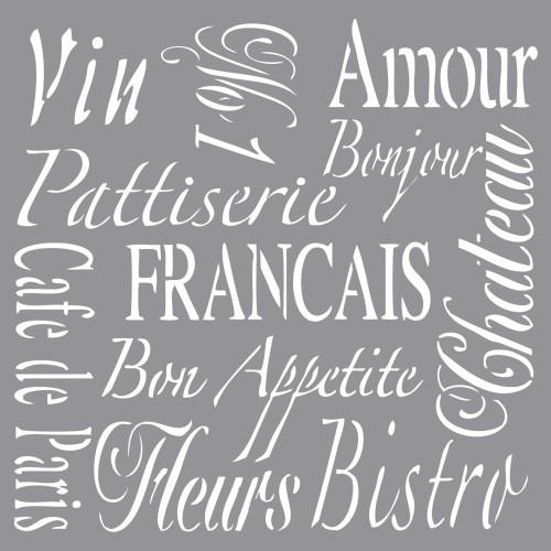 Šablona - French Living, 30,5x30,5cm