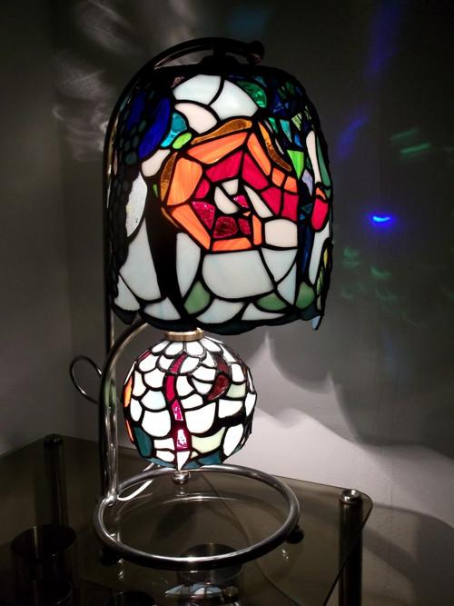 Obří tiffany stolní lampa BREAKING-THE-WAVES