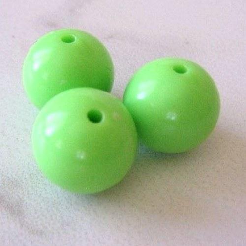 AKCE - Plastové korálky zelené 10 mm - 10 ks