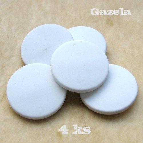 Pogumovaná bílá kolečka - 4 ks