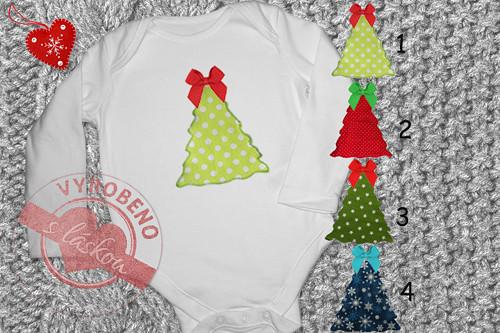 Dětské body dl.rukáv vánoční stromeček
