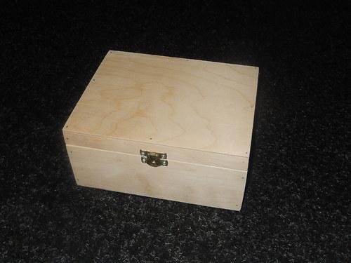 Dřevěná krabička čajová pro Vaše tvoření