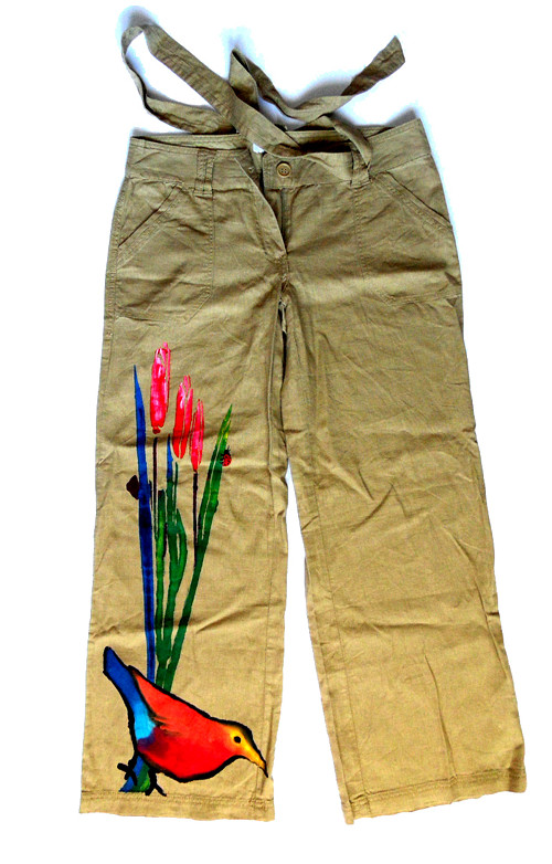 Next letní dámské kalhoty malované