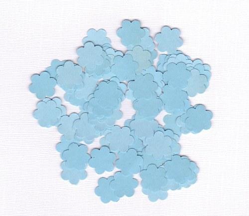 Kytička 1,6 cm - modré výseky (100 ks)