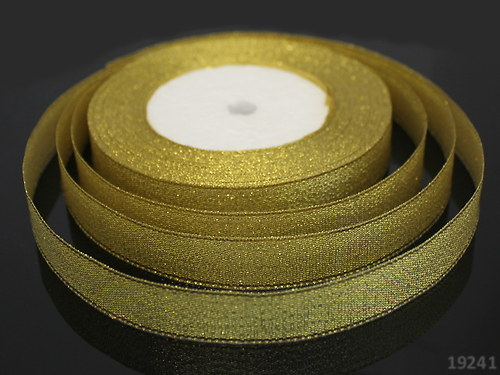 19241 Lurexová stuha zlatá 20 mm, á 1m