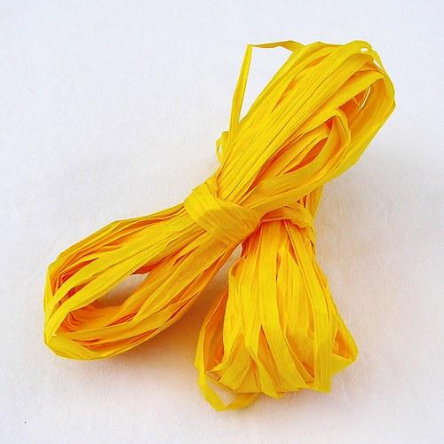 Sytě žluté papírové lýko - 20 m
