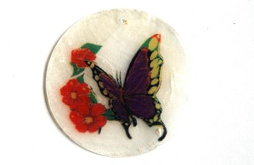 044 perleťové placky - motýl