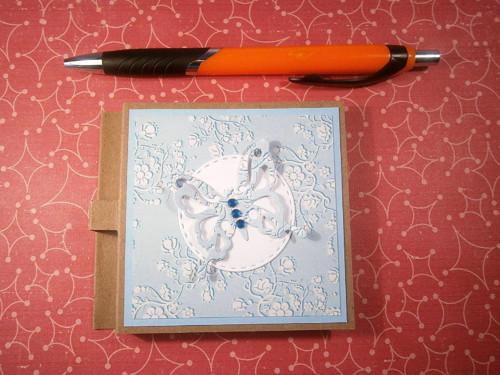 Post-it bloček - modrý motýl