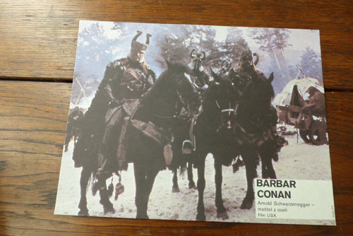 Barbar Conan...filmový prospekt, fotoska