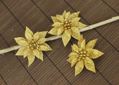 Dekorační květina-zlatá