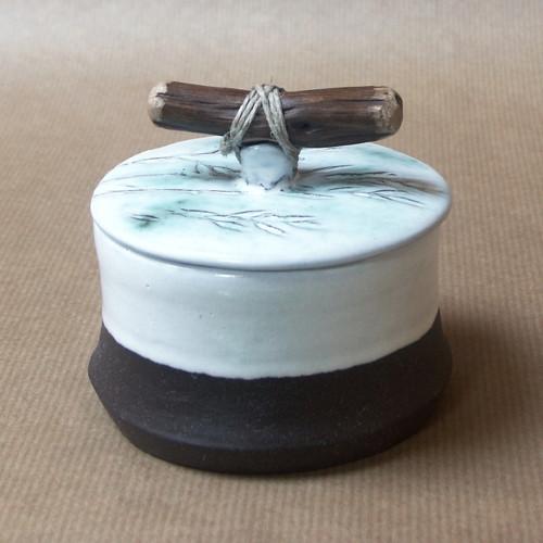 Ovesné klásky - keramická dóza