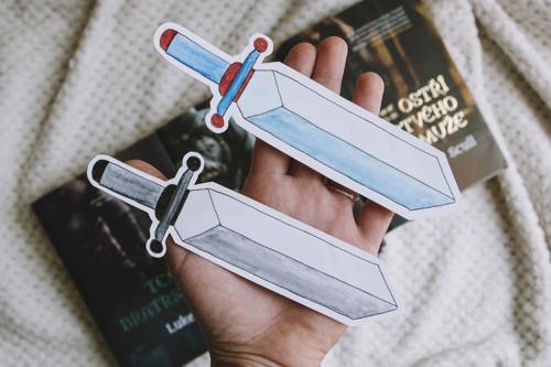 Záložka meč - modrá