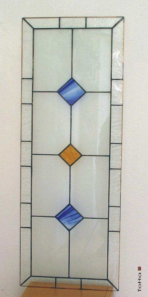 vitráž-kosočtverečky