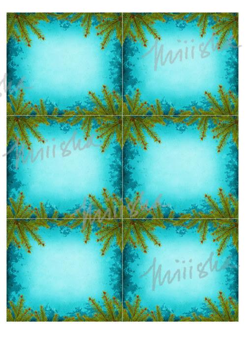 Vánoční rámečky - cedulky na dárky - modré