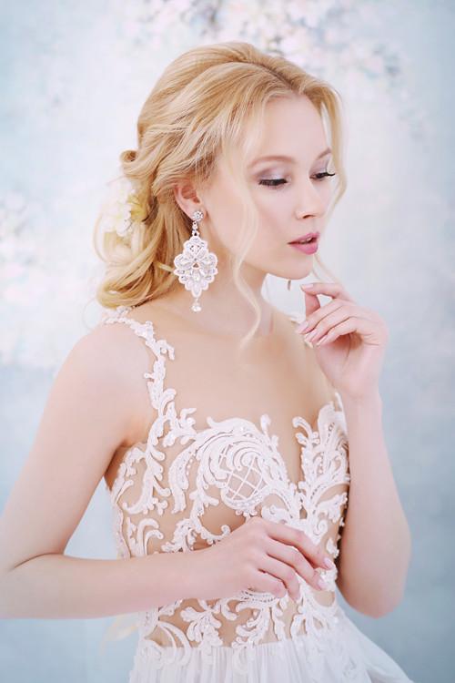 Svadba 2018 - Svadobné náušnice s čipkou