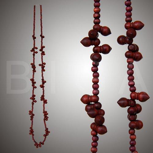 dřevěný náhrdelník tmavě hnědý