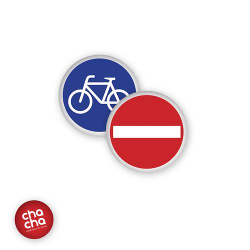 Dopravní značky - náušnice pecky