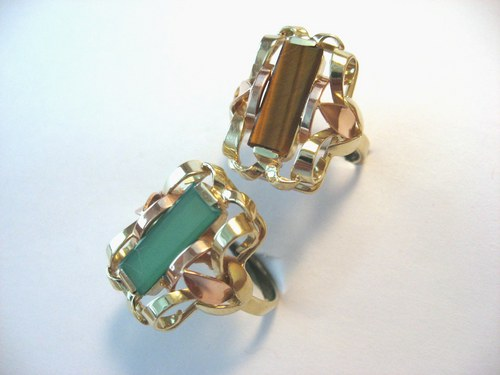 Gemstone&gold brick II.:zlatý prsten s kamenem