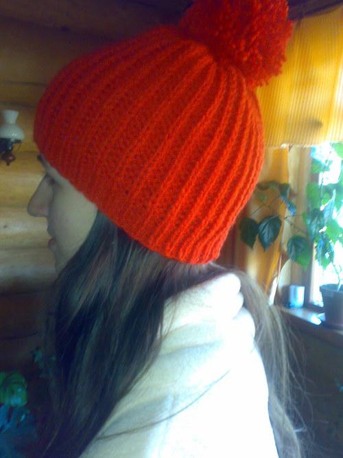 Dámská čepice(kulich) červený