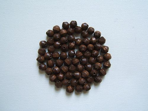 Dřevěné korálky 8x8 mm 100ks