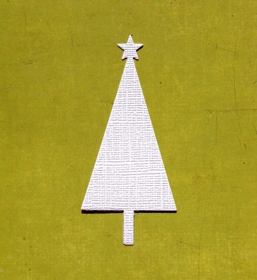 Vánoční stromeček plošný se strukturou