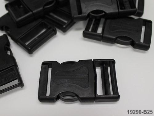 19290-B25 Batohová spona ČERNÁ 30mm, á 1ks