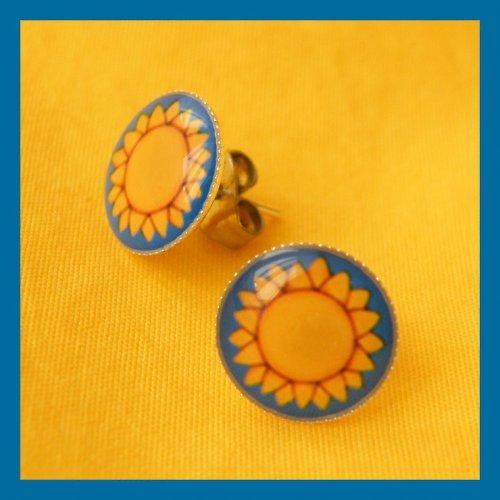 Sluníčkové náušnice