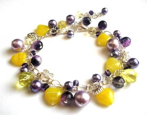Náramek Purple&Yellow2