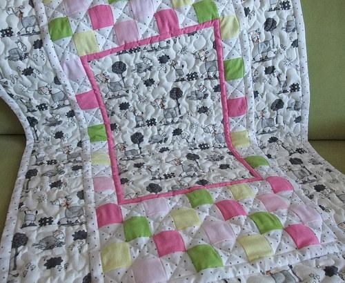 Dětská deka koníčková do růžova