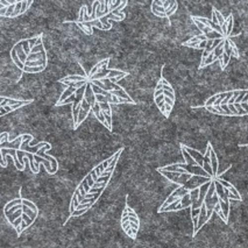 Dekorativní plsť Podzim (1ks) 30x40cm-přírodní