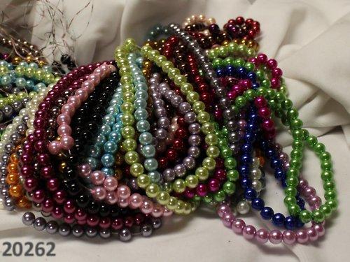20262-? Luxusní voskované perly 8mm, bal.100-110ks