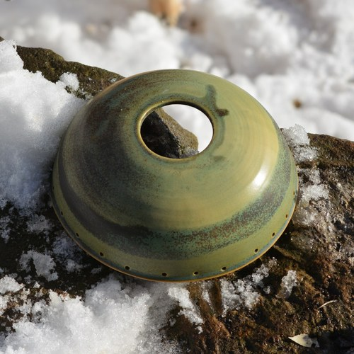 Kameninový vrchlík na světlo 18 cm - Z mechu ...