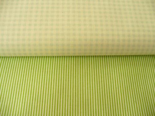 100 % bavlna zelený štvorček