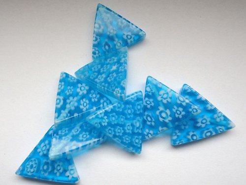Skleněný trojúhelník - kytičky