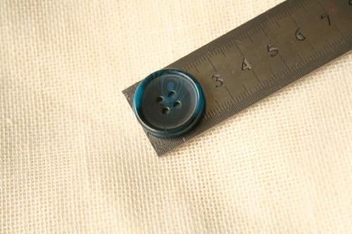 2 knoflíky modré imitace letokruhů_2,3 cm