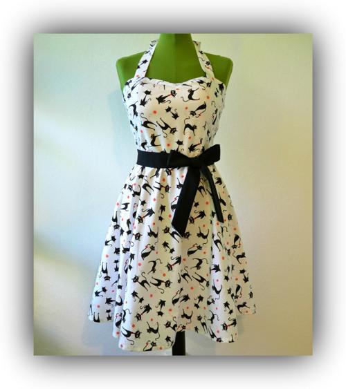 Retro šaty - Kočičkové
