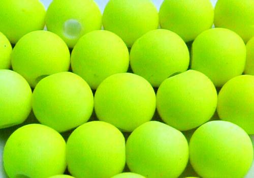 Pogumovaná kulička 6 mm - neon žlutá / 10 ks