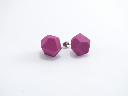 Náušnice krystal purple