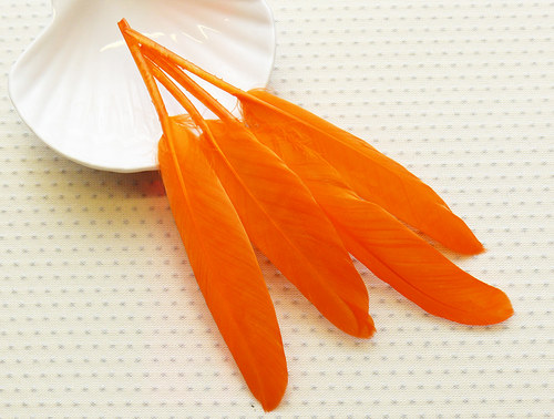"""Pírka \""""oranžové\"""" 4 ks"""