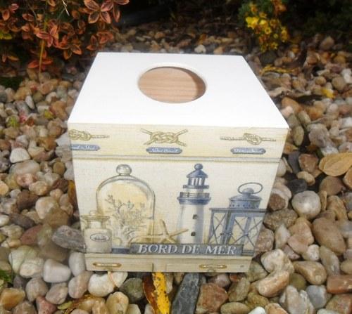 Mořská krabička na kapesníky