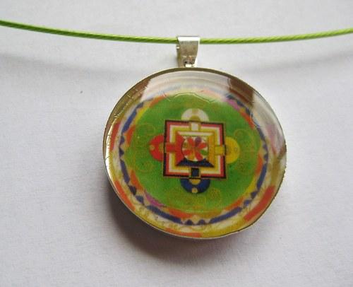 Tibetská mandalka v živici 2,5cm