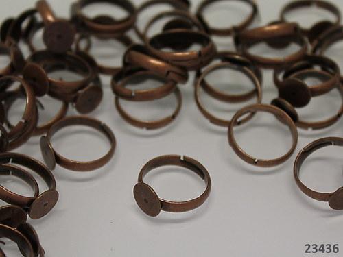 23436 Prsten základ s lůžkem 8mm MĚĎ,  á 1ks