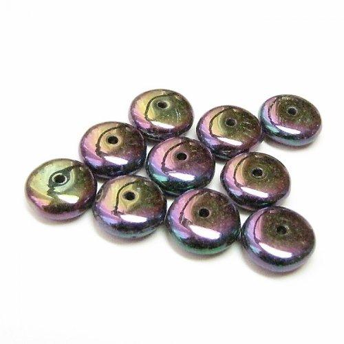 Kovové korálky - disk 8 mm 20 ks