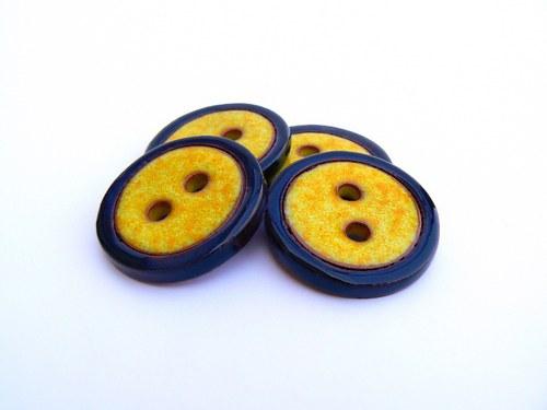 Knoflík Yellow&Black