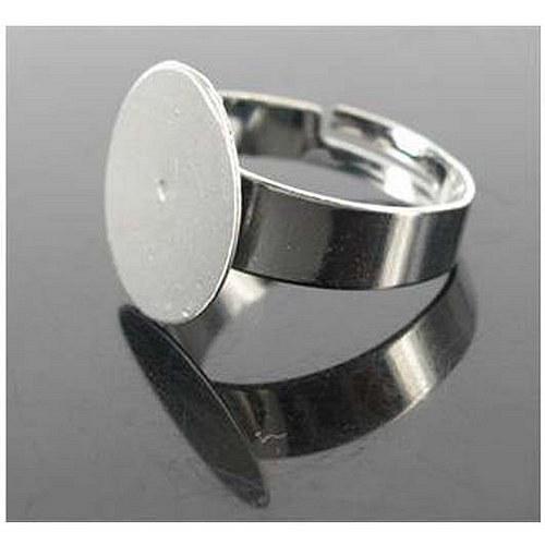 Prsten 15mm - 2ks - Platinový