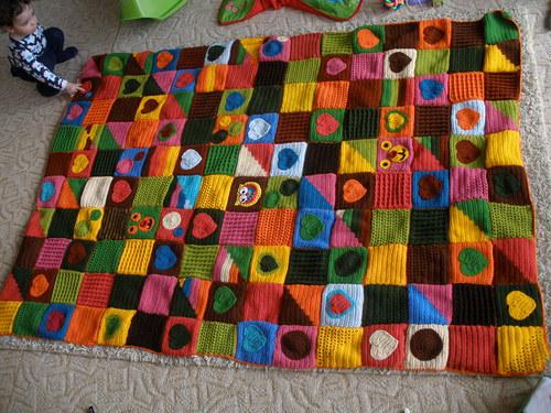 Háčkovaná deka pro děti i dospělé