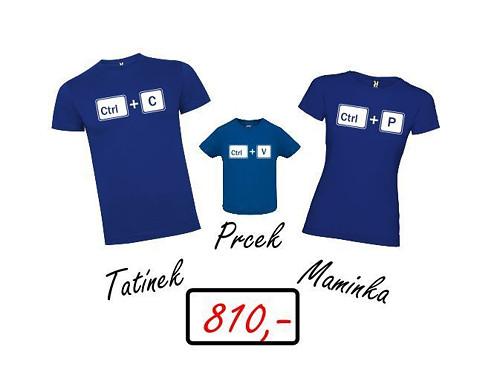 Sada triček pro rodinu (Zkopíruj! Vlož! Tiskni!)