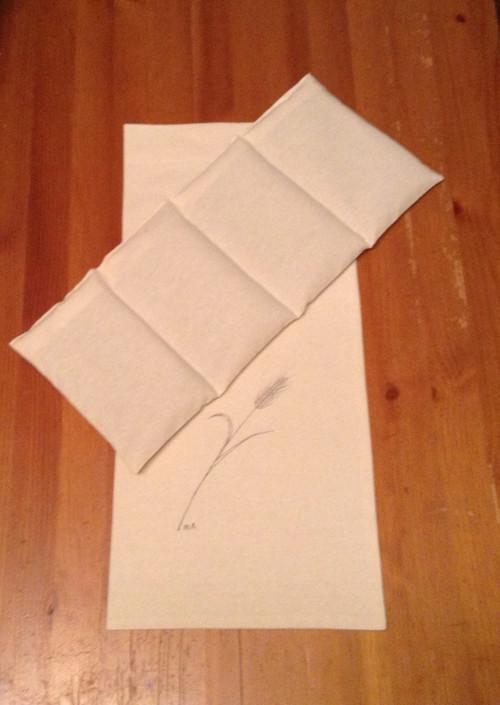 Nahřívací obilný polštářek -přírodní barvy